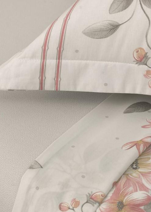 Jogo de cama Casal 100%algodão Vivaz Flores Karsten