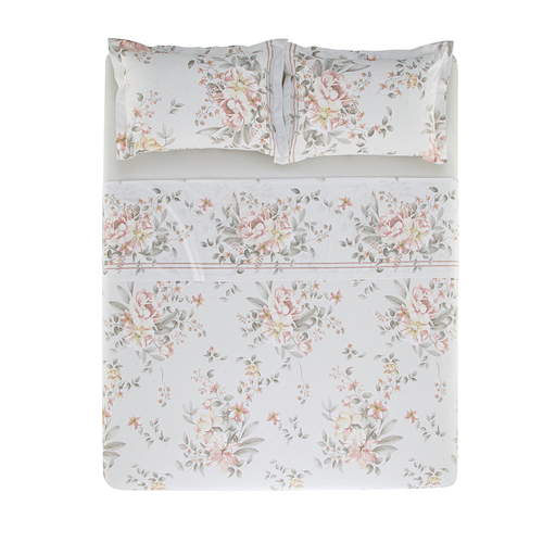 Jogo de cama Queen 100%algodão Vivaz Flores Karsten