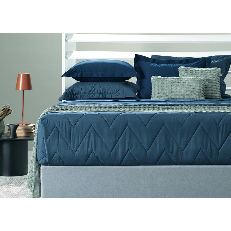 Jogo de cama queen - básico com vira - trussardi 200 fios percal 100% algodão piero branco - off white