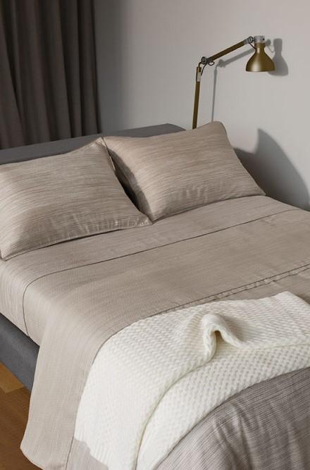 Jogo de Cama Queen Cinza Egípcio300fios Ludlow By The Bed
