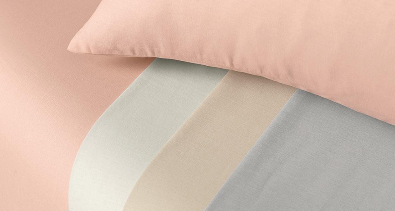 Jogo de cama Solteirão 100% algodão 2 peças Nuance Bege Karsten