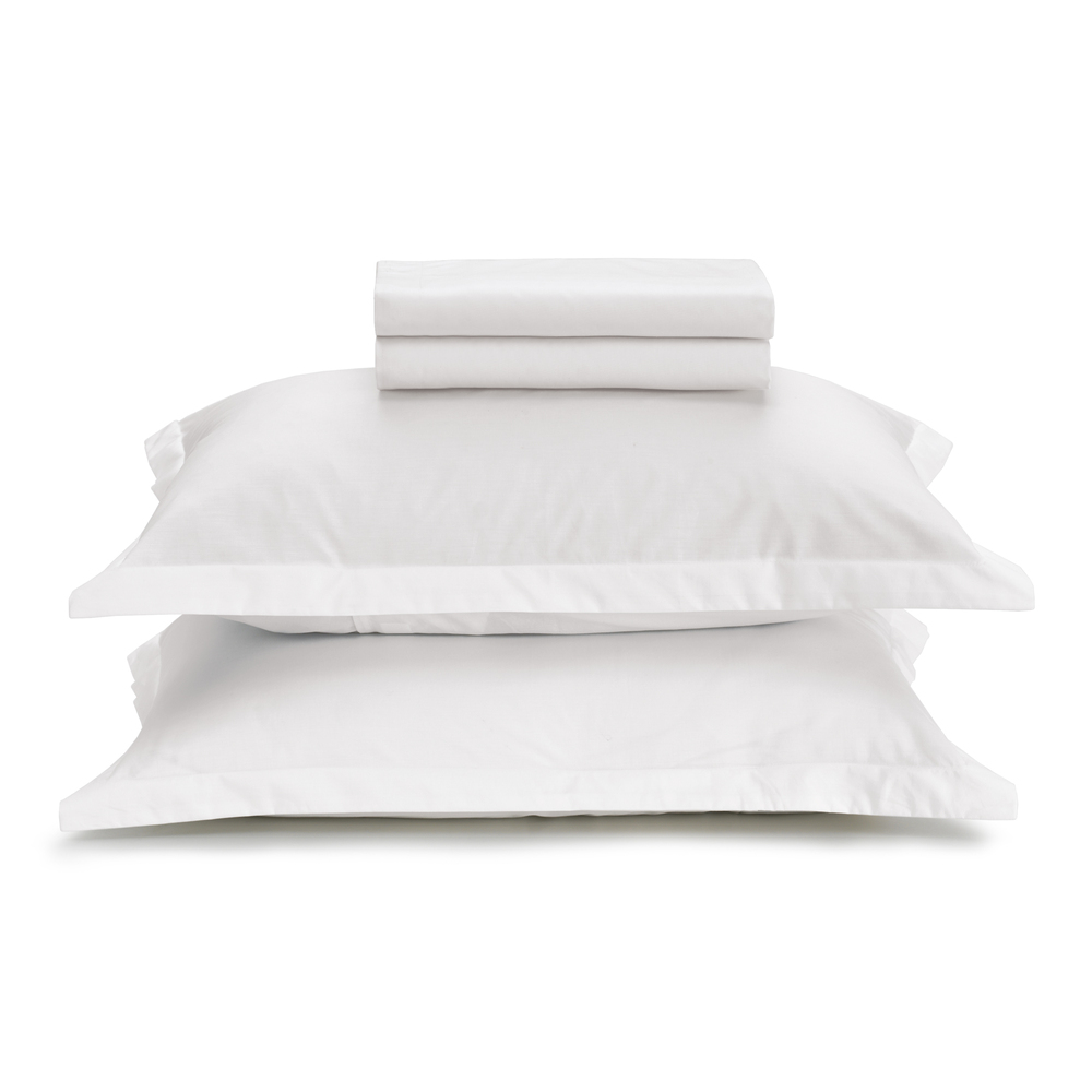 Jogo de lençol casal branco Liss - 100% algodão - Karsten