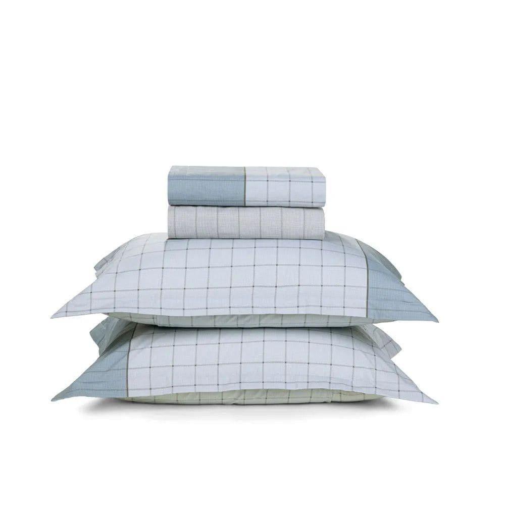 Jogo de Lençol Casal - quadros geométricos - 100% algodão - Nodari - karsten