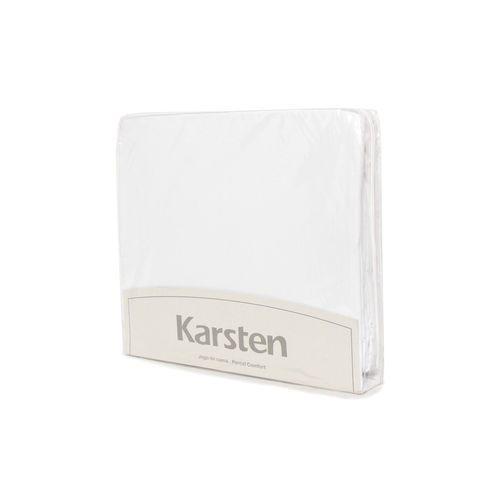 Jogo de lençol King size 4 Peças Algodão Liss Branco - Karsten