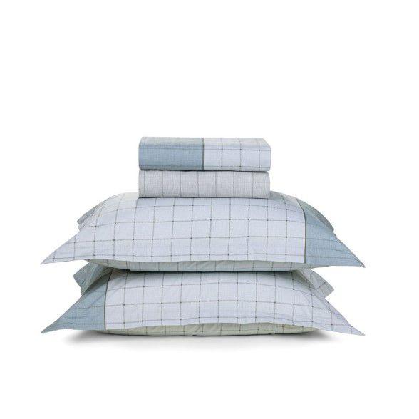 Jogo de lençol queen quadros geométricos - 100% algodão - Nodari - karsten