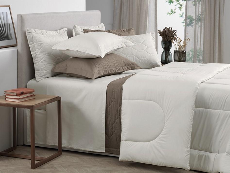 Jogo de lençol queen size algodão 4 peças branco Liss - karsten