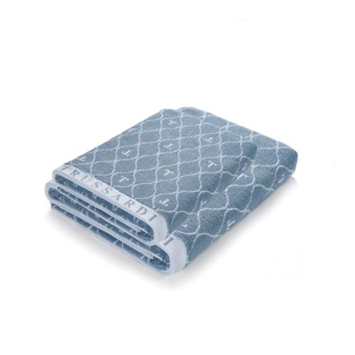 Jogo de toalha 2 Peças Super Banhão Speciale Azul Azzuro Trussardi