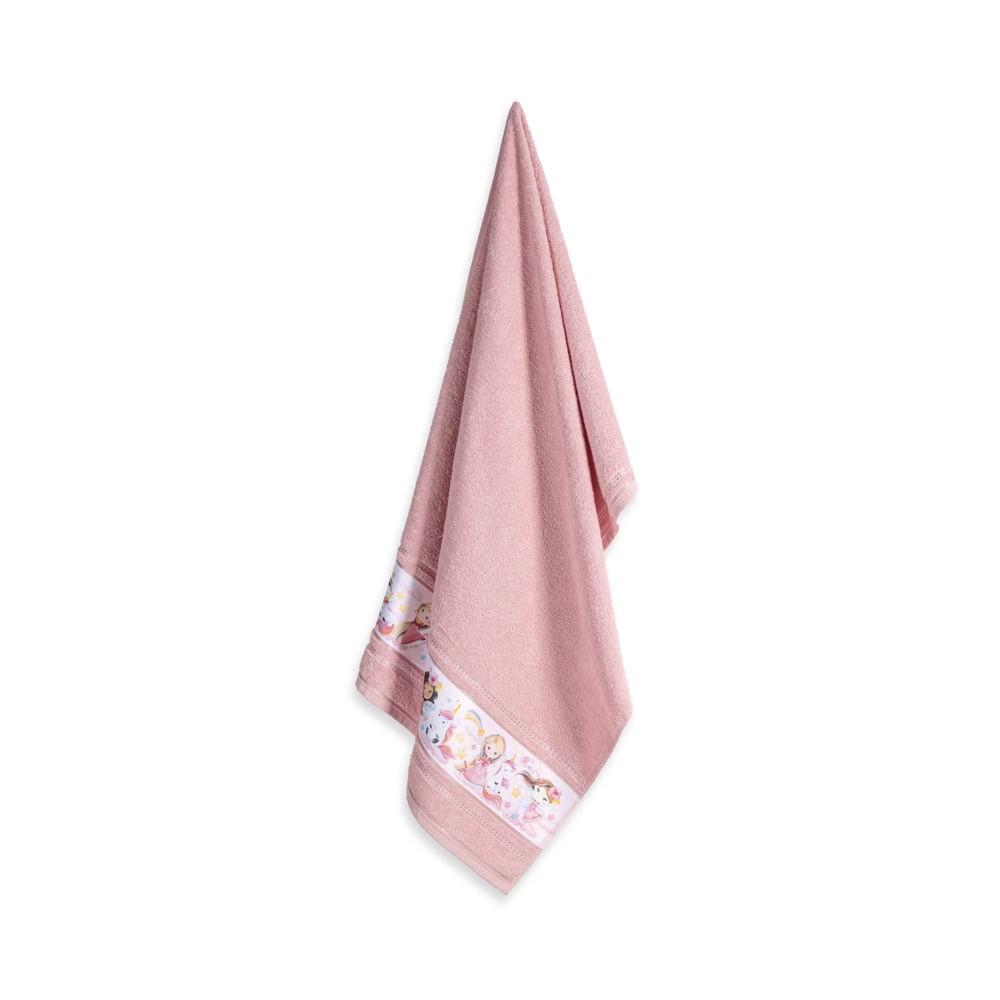Jogo de toalha infantil Encantada Princesa&unicórnio karsten