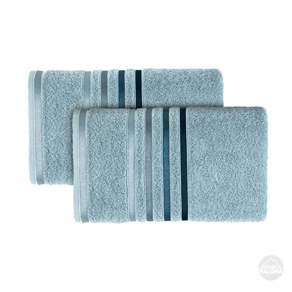 Jogo de toalhas de banho lumina – ultra grossa 2 peças – azul allure - karsten