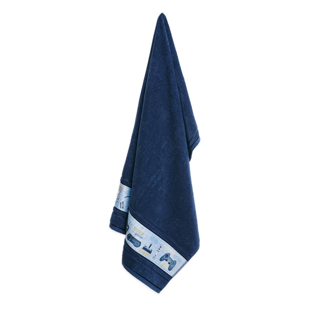 Jogo de Toalhas Infantil 2 peças Azul Naval Diversão Karsten