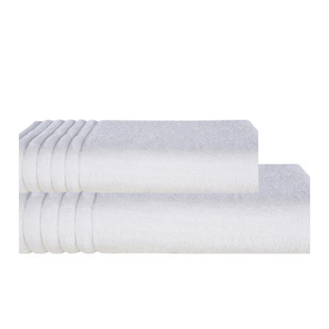 Jogo de Toalhas Trussardi banhão Branco Imperiale 2 peças