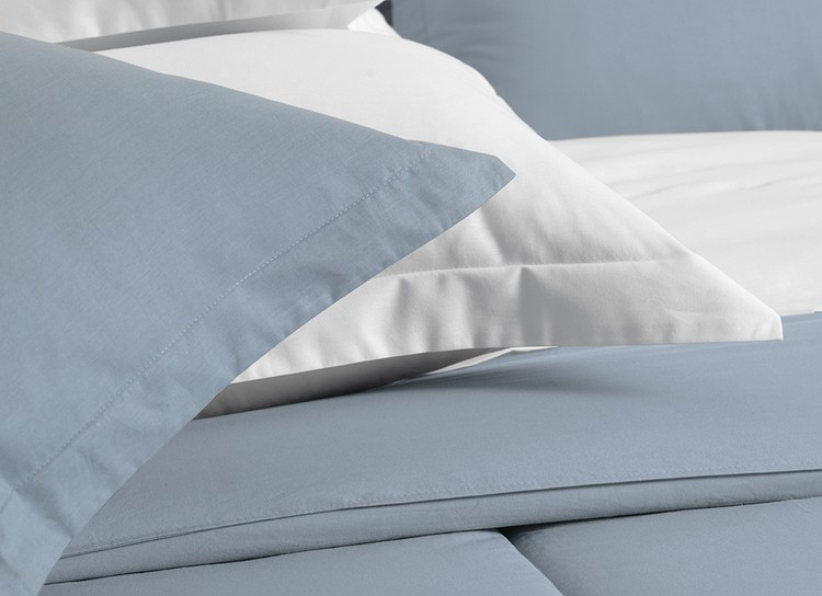 Kit 2 fronhas lisas - azul allure avulsas - 100% algodão extra macio - liss karsten