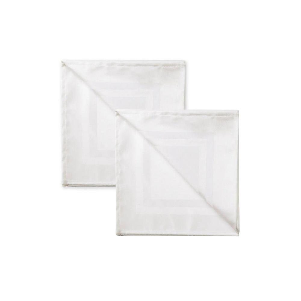 Kit 2 Guardanapos de Tecido Branco Jacquard 51x51 Karsten