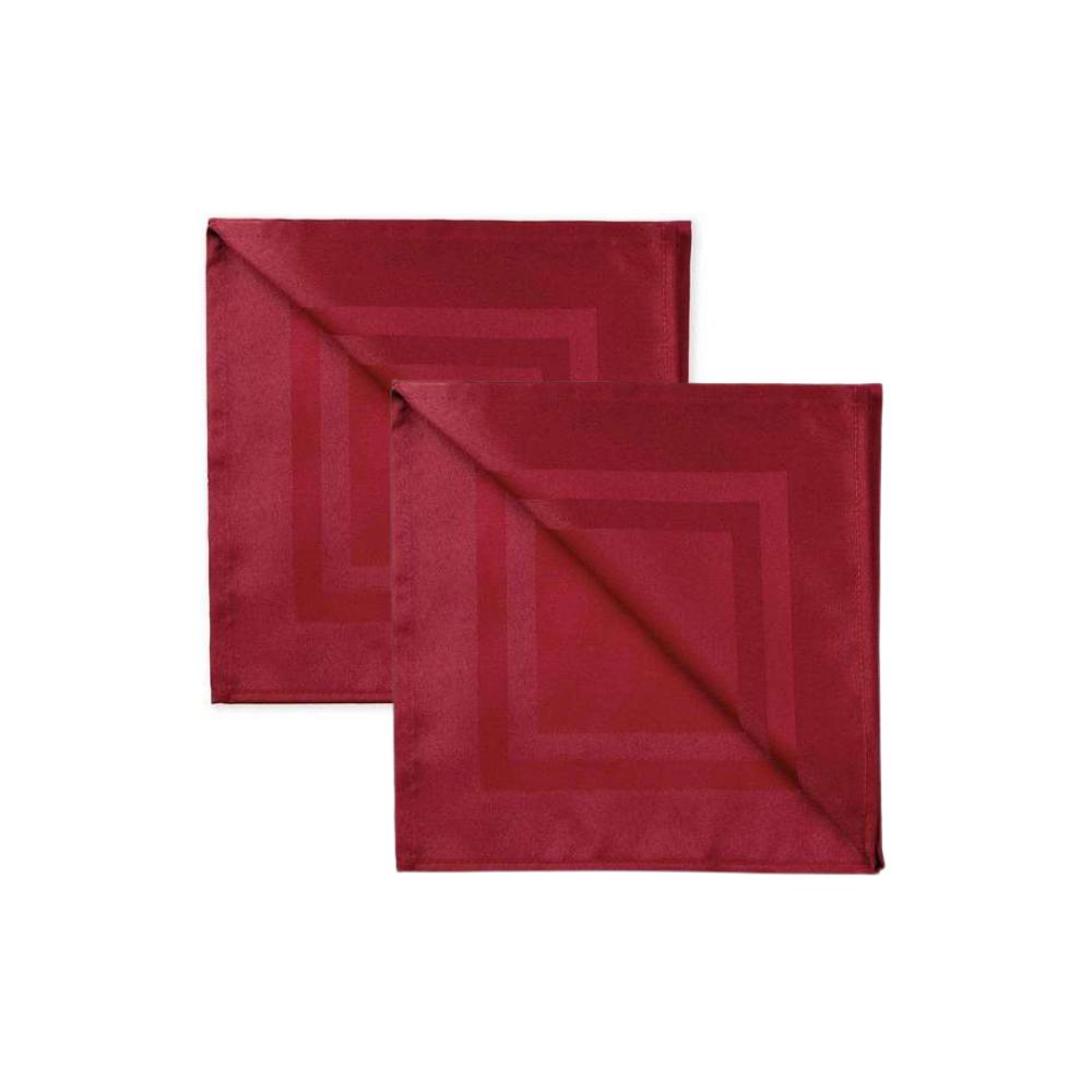 Kit 2 Guardanapos de Tecido Vermelho Jacquard 51x51 Karsten