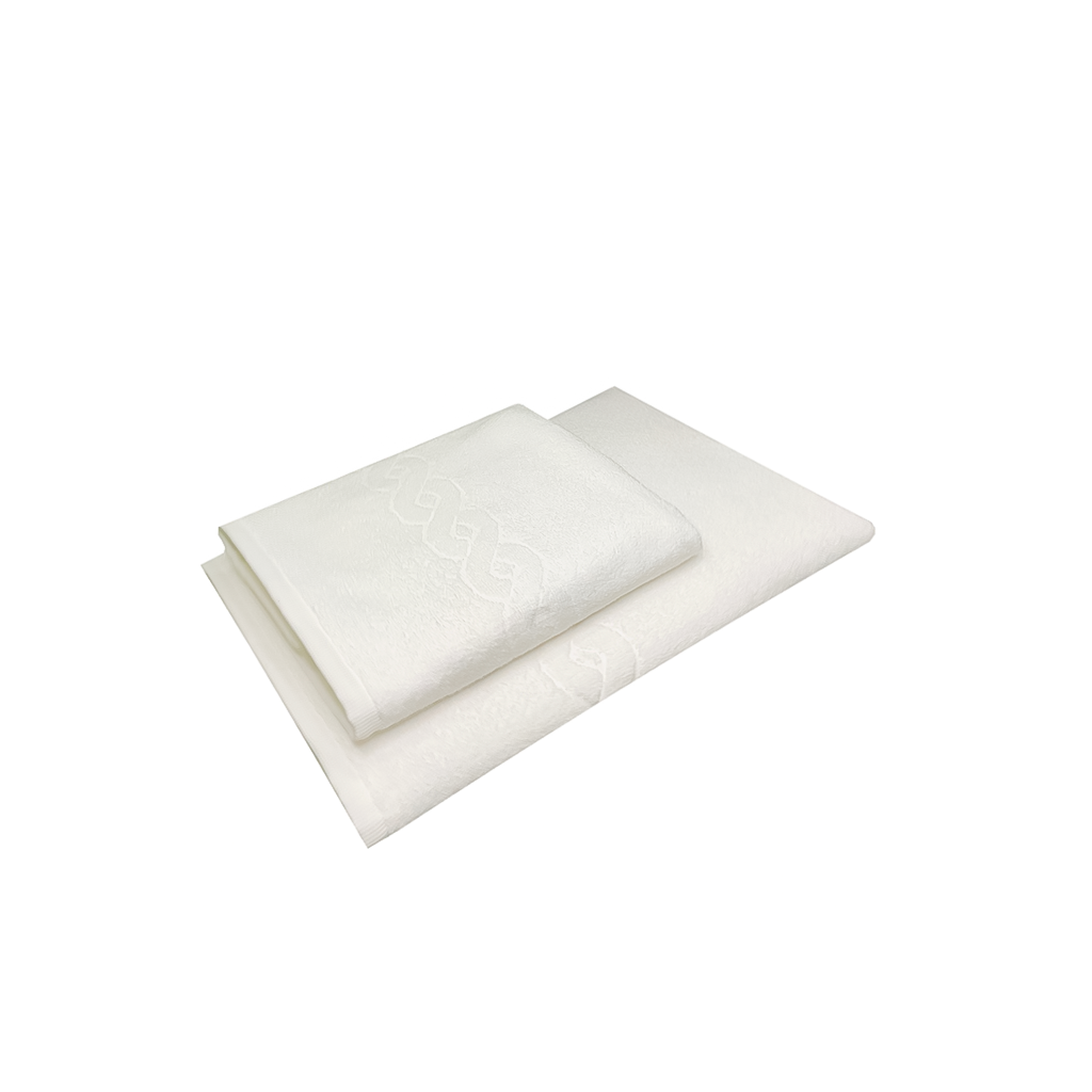 Kit 2 Toalhas (Banho+ Rosto) Profissionais Branca Profi Plus Dupla costura Dohler