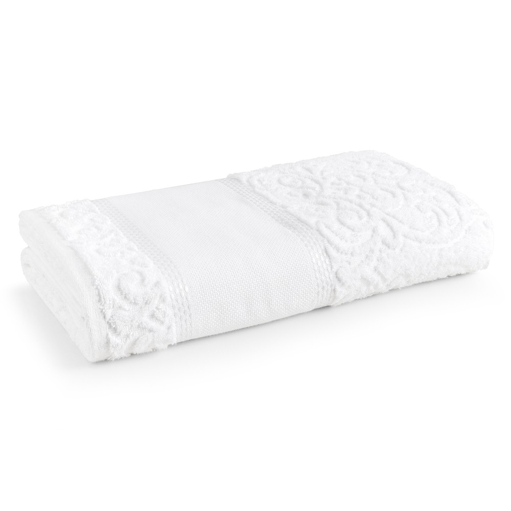 Kit 6 toalhas de lavabo para bordar e pintar - Melina 480g/m2 - Branco - Karsten