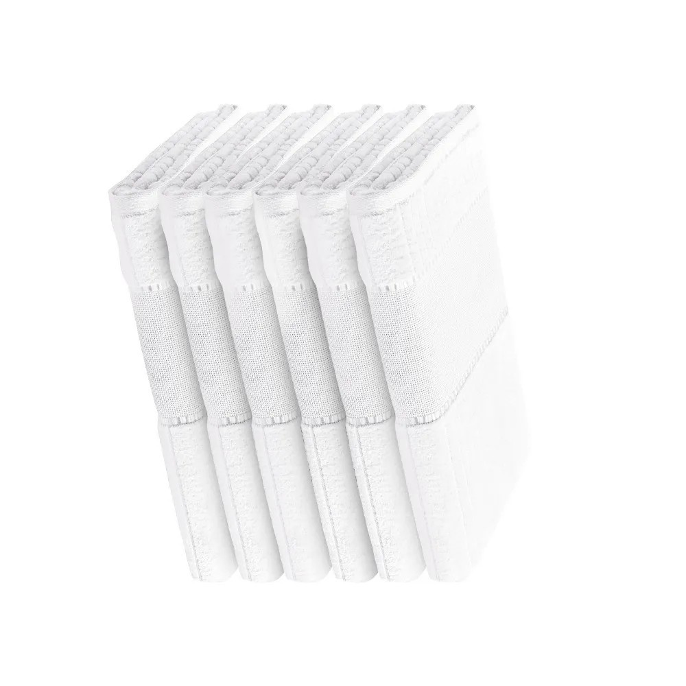 Kit 6 toalhas de lavabo para bordar e pintar - Stella 400g/m2 - Branco - Karsten