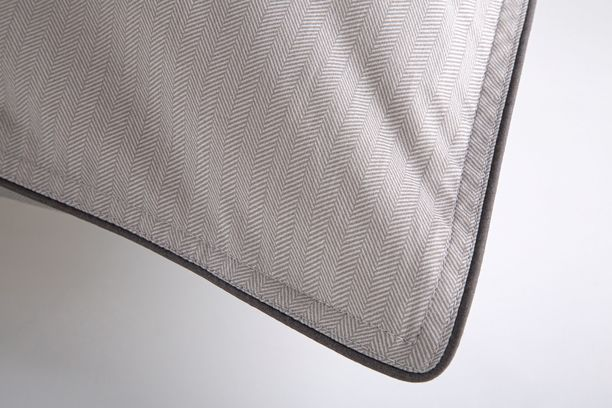 Lençol Casal Egípcio 300 fios Cinza 59ST ByTheBed - Design Industrial