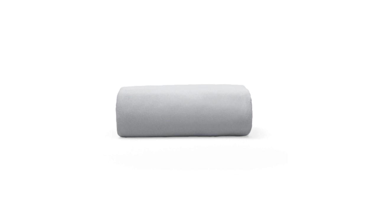Lençol de Elástico em Malha Casal Basic Cinza Bouton Cotton