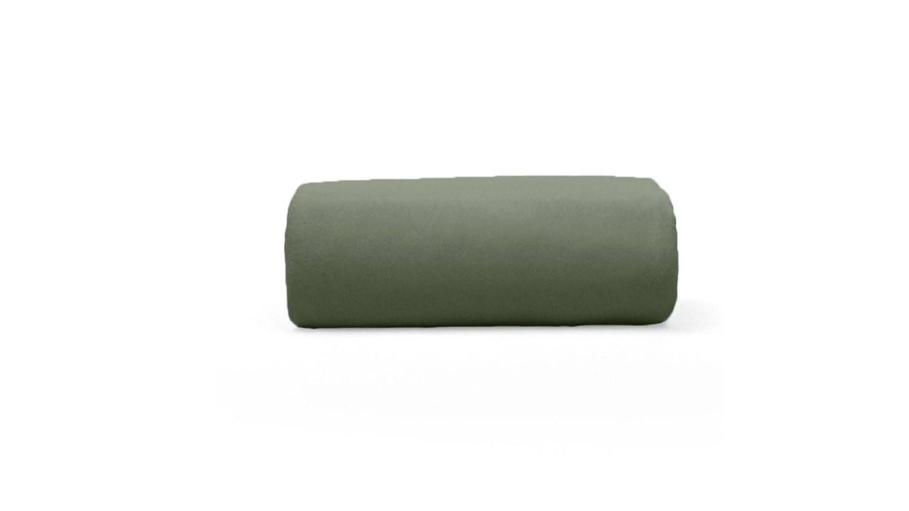 Lençol de Elástico Queen em Malha Verde Musgo Premium Bouton