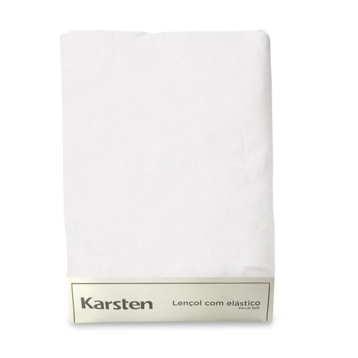 Lençol solteirão branco de elástico liss - karsten 180 fios avulso