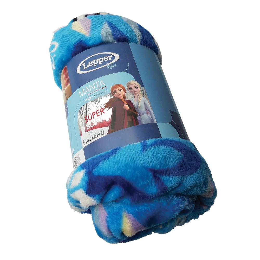 Manta infantil para sofá fleece frozen lepper