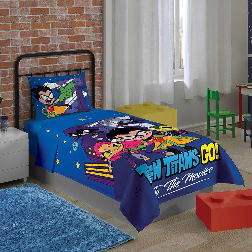 d0a90bc904 Jogo de cama infantil teen Titans Go 2 peças - Lepper