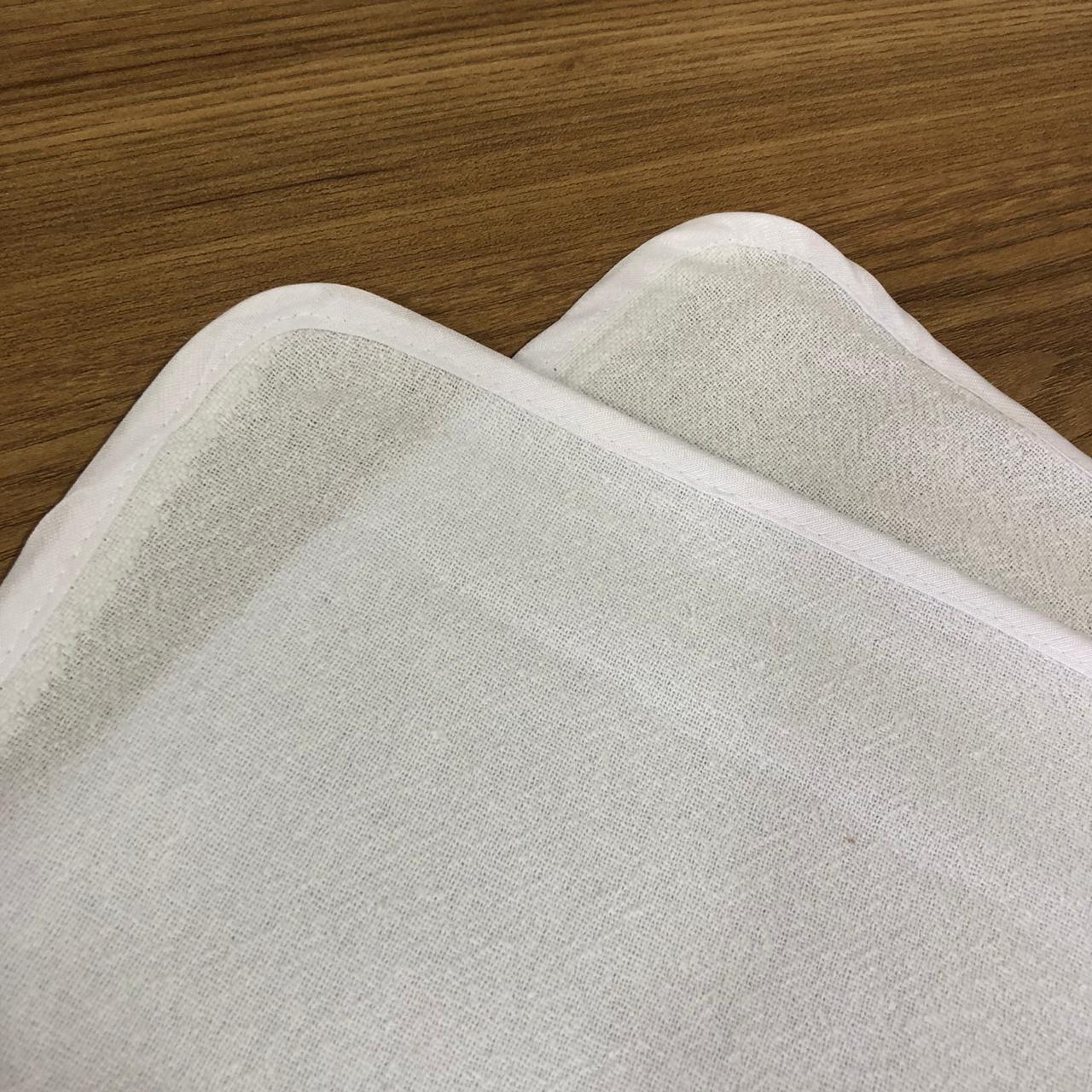 Pano de Prato básico Grande 3Peças bainha Branco Casa Paloma