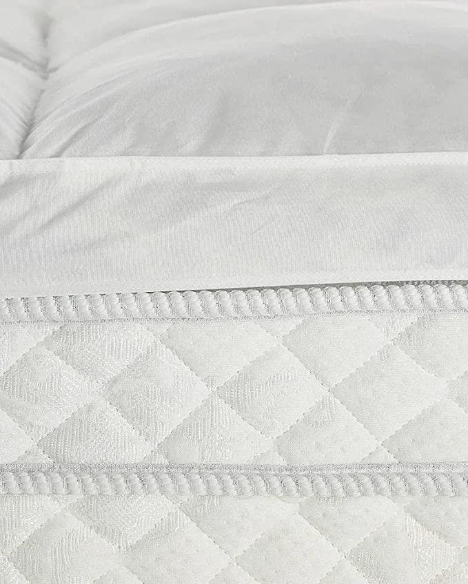 Pillow Top Casal Pluma Touch Percal 233fios Premium Daune