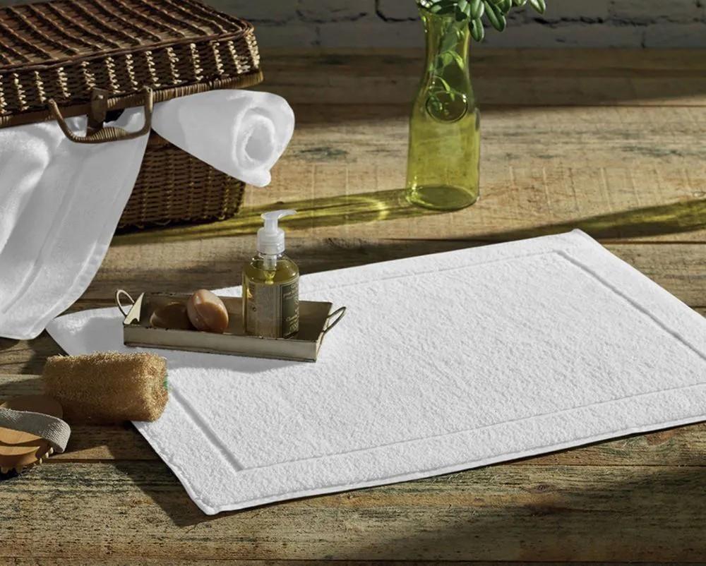 Piso tapete para banheiro atoalhado juliet – branco - karsten
