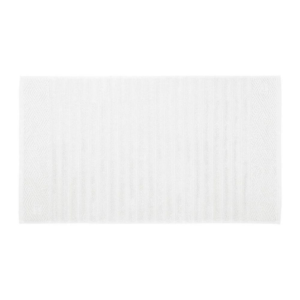 Piso trussardi ondulato - 100% algodão - gramatura 720 g/m² - branco