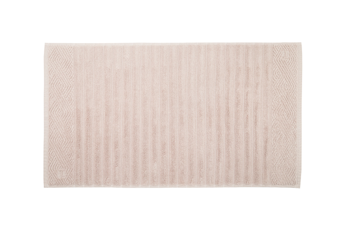 Piso trussardi ondulato - 100% algodão - gramatura 720 g/m² - soft rose
