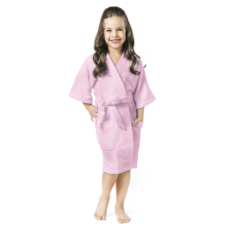 Roupão Infantil Rosa Menina P - 3 a 6 anos Felpudo Quimono Confetti Lepper