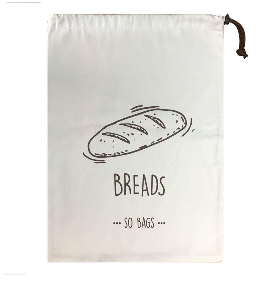 Saco de Armazenagem para Pão Breads em algodão - So Bags