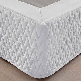 Saia Box Queen Premium Branca 200Fios Matelassê Naturalle