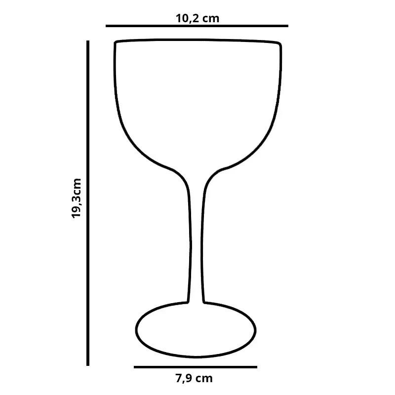 Taça para Gin em Acrílico 580ml Preta Nero