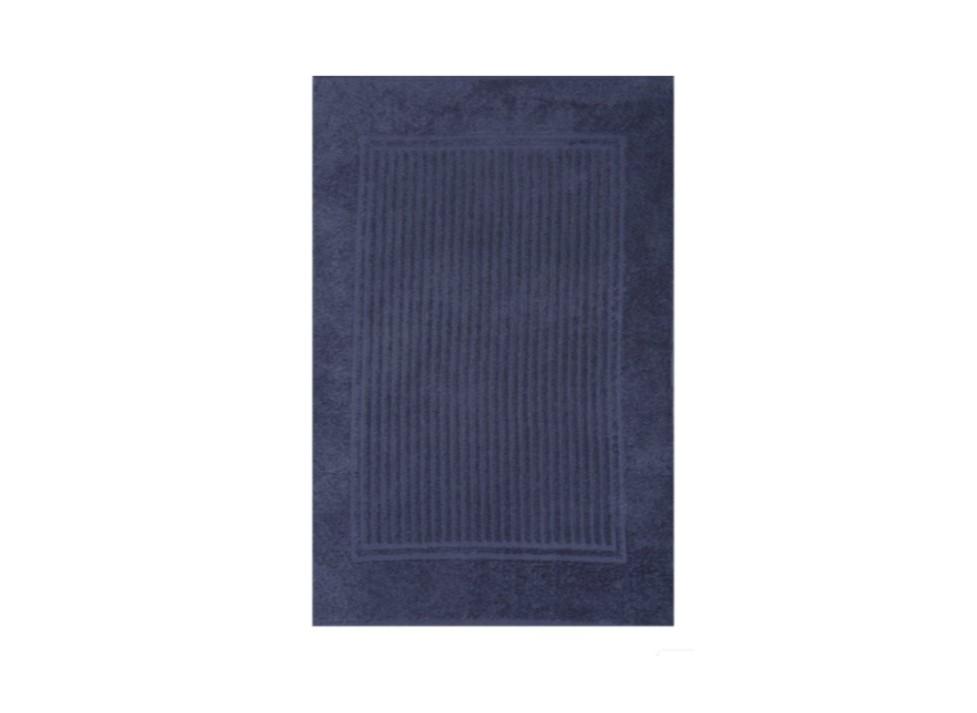 Tapete Piso Banheiro Canelado Azul Frape 48x70cm Buddemeyer