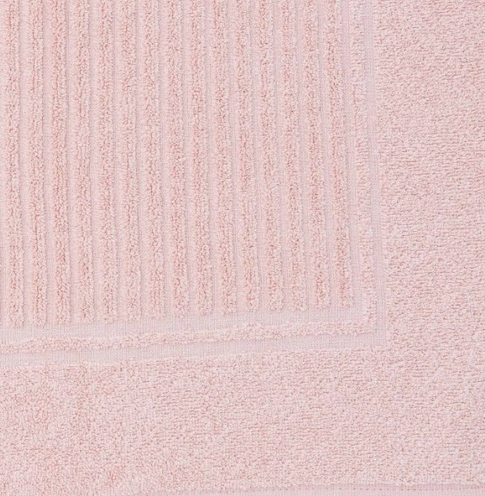 Tapete Piso Canelado Rosa Frape 48x70 Buddemeyer