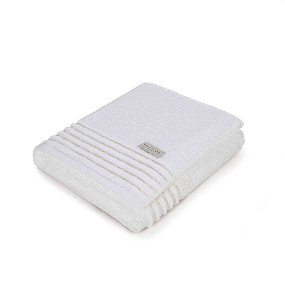 Toalha Banhão Branco/Arenito Palladio Trussardi