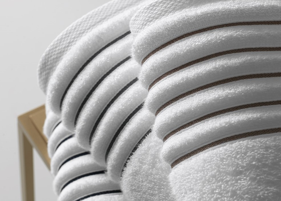 Toalha Banhão Branco/cinza Palladio Trussardi