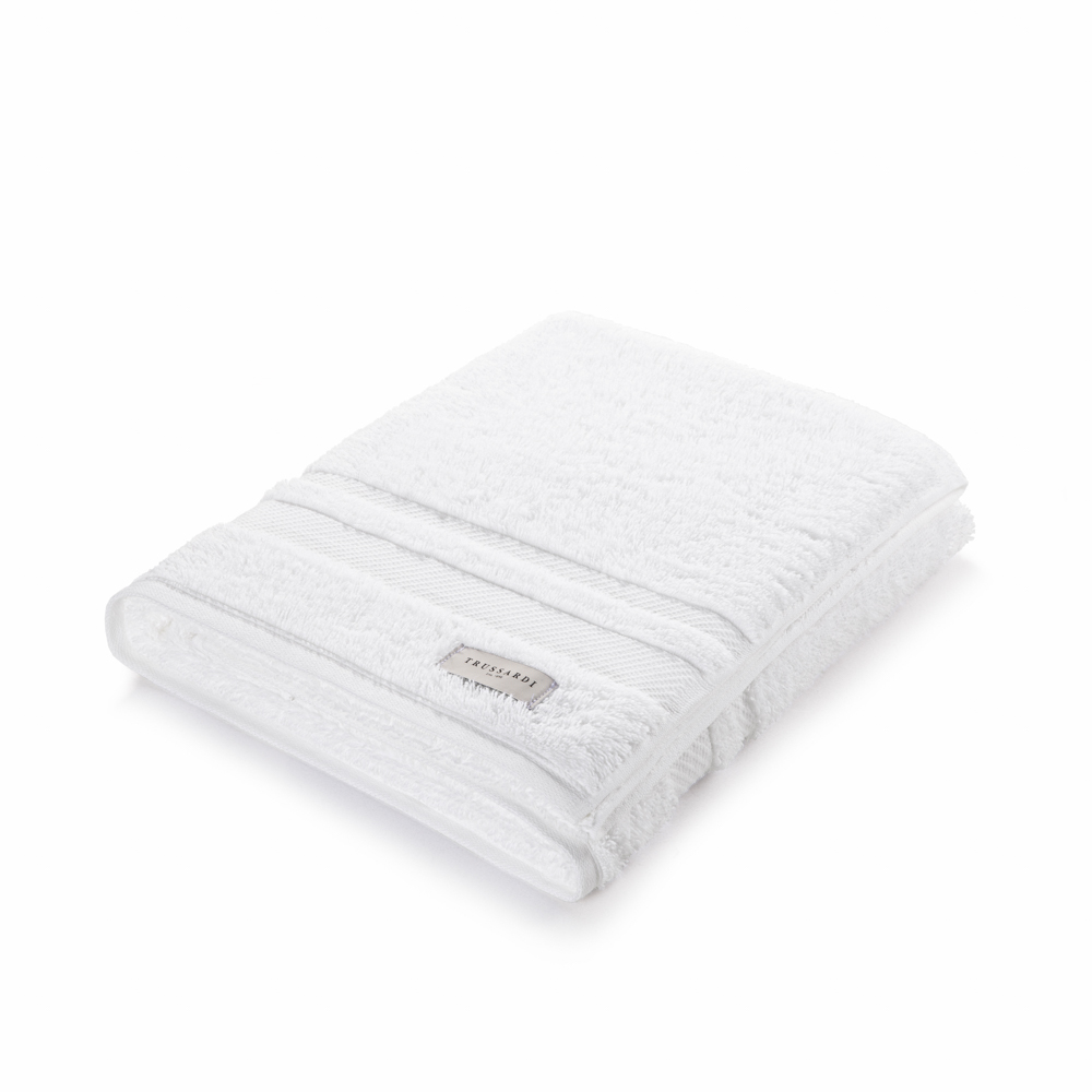 Toalha de Banho Lorenzi Branca Trussardi