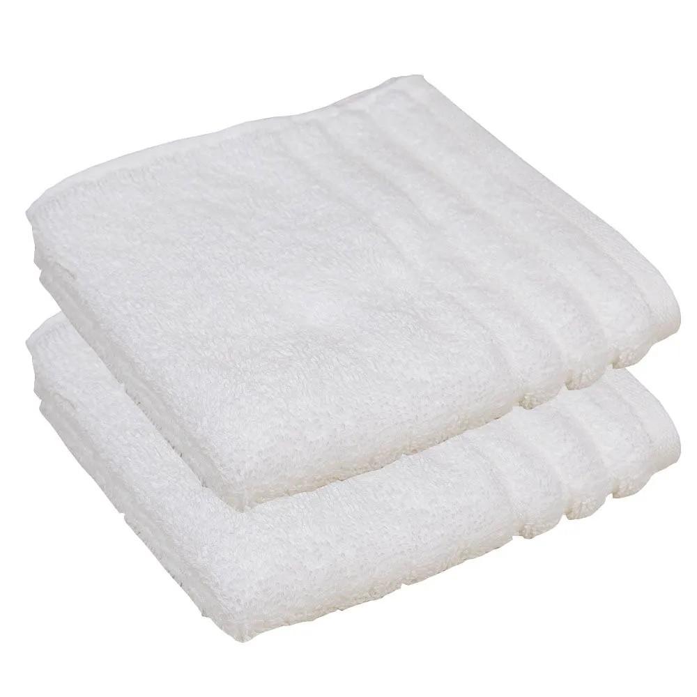 Toalha de lavabo básica branca imperiale  kit com 3 peças - trussardi