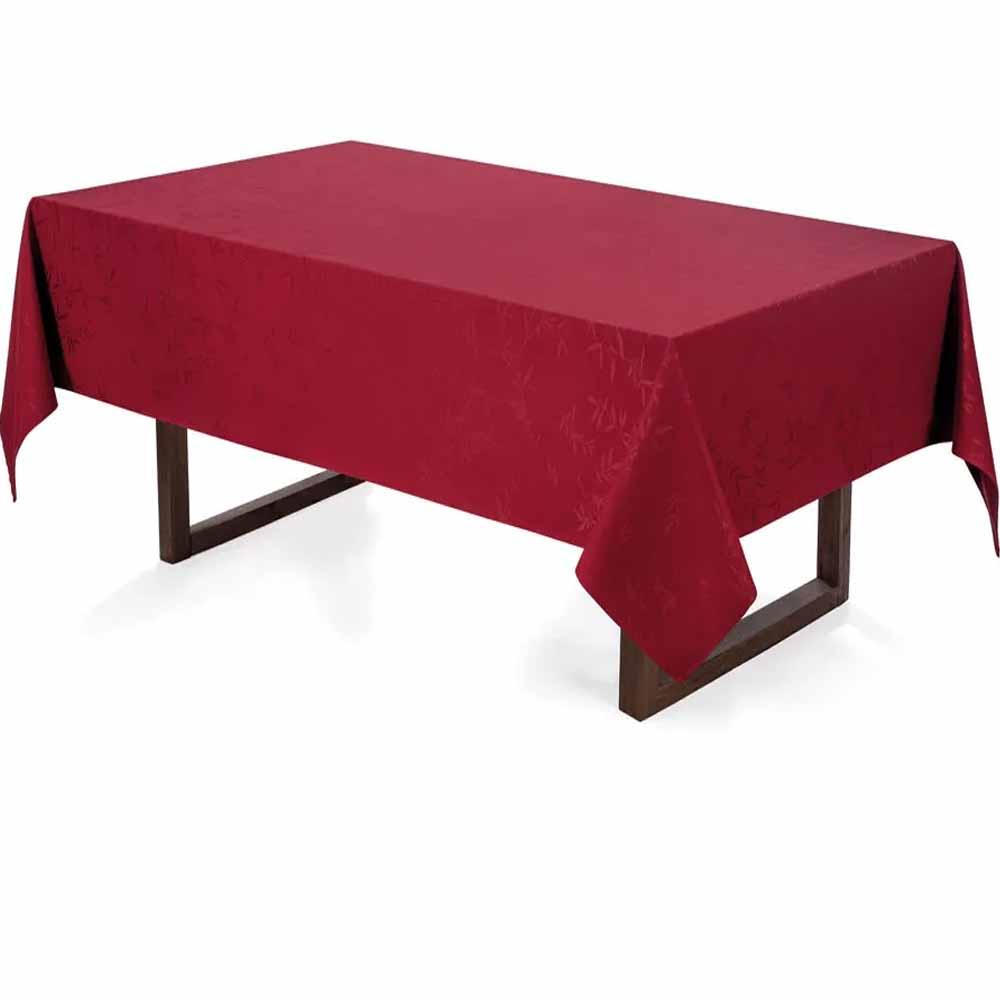Toalha de Mesa 6 Lugares Retangular Verissimo Vermelha - Celebration - Karsten