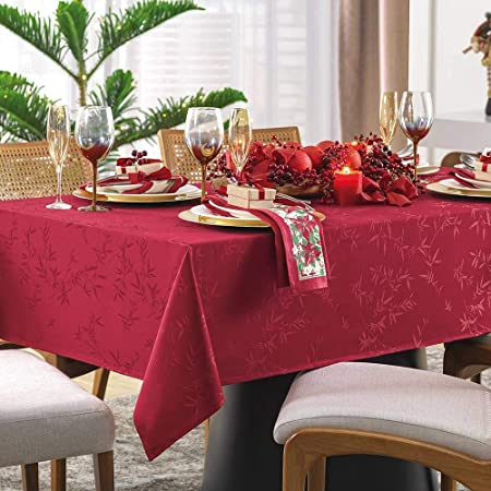 Toalha de Mesa 8 lugares Quadrada Premium Veríssimo Vermelha Karsten
