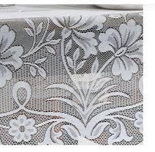 Toalha de Mesa de Renda Branca Retangular 6 Lugares Realeza - Lepper