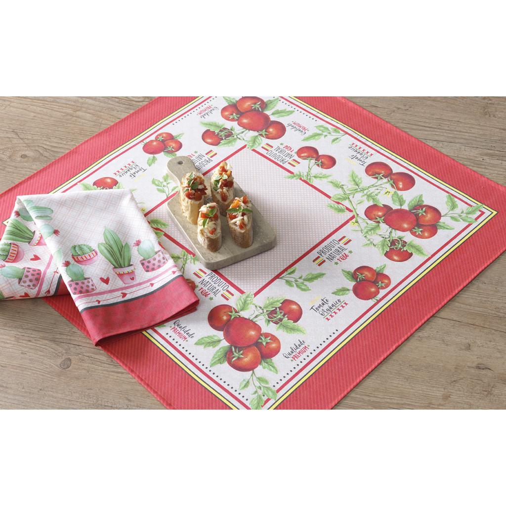 Toalha de mesa Nature 78x78 Cobre mancha karsten - 4 peças