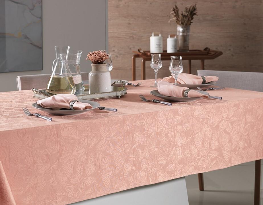 Toalha de mesa Quadrada 140x140 Arbela Branca Karsten