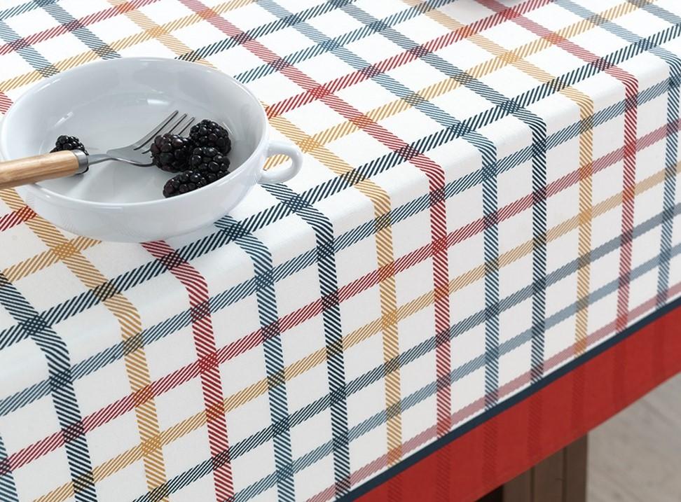 Toalha de mesa Quadrada 140x140cm Amelí Grid Karsten