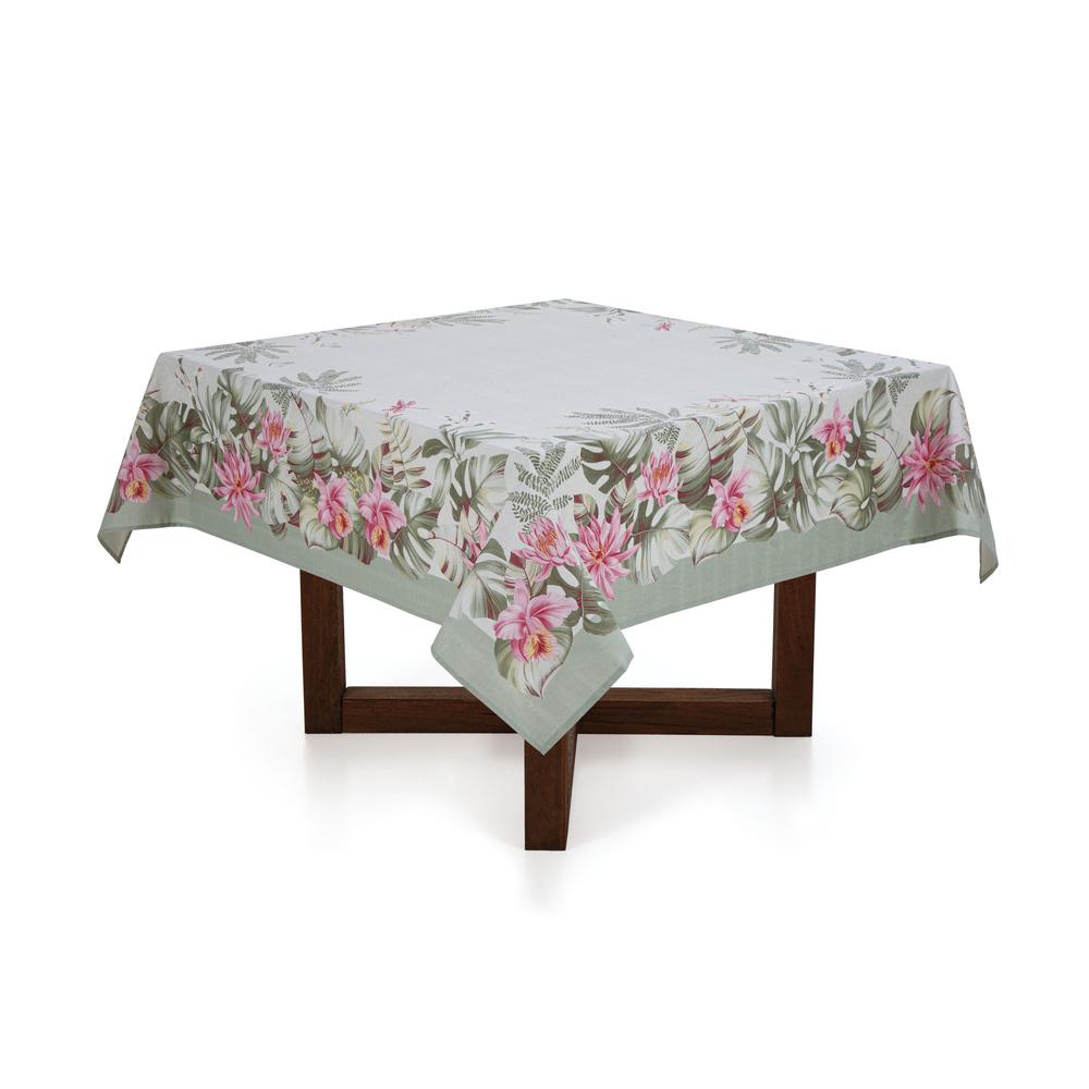 Toalha de mesa quadrada 4 lugares Jardina - sempre limpa - karsten