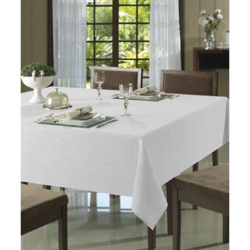 Toalha de mesa Redonda 2 metros Limpa fácil Clean Passion Branca Dohler